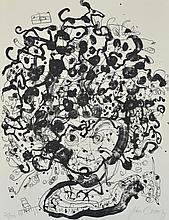 JOHN OLSEN (born 1928) Portrait of Brett Whiteley 1979 lithograph edition 25/100