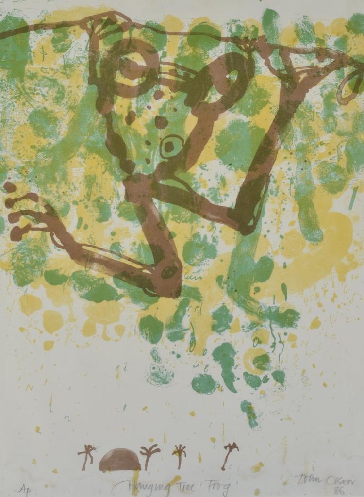 JOHN OLSEN (born 1928) Hanging Tree Frog 1986 lithograph Artist''s Proof