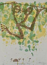 JOHN OLSEN (born 1928) Hanging Tree Frog 1986 lithograph Artist''s Proof