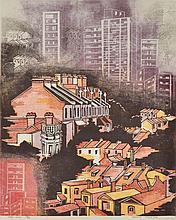 LESBIA THORPE (born 1919) Take-Over colour linocut edition 12/60
