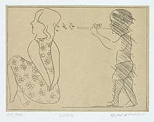 CHARLES BLACKMAN (born 1928) Song etching edition 33/40