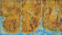 DAVID RANKIN (born 1946) Coastal Sandstone 1985 coloured etching (triptych) edition 36/50