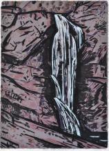 JEFF MAKIN (born 1943) Cedar Creek Falls 1988 screenprint edition