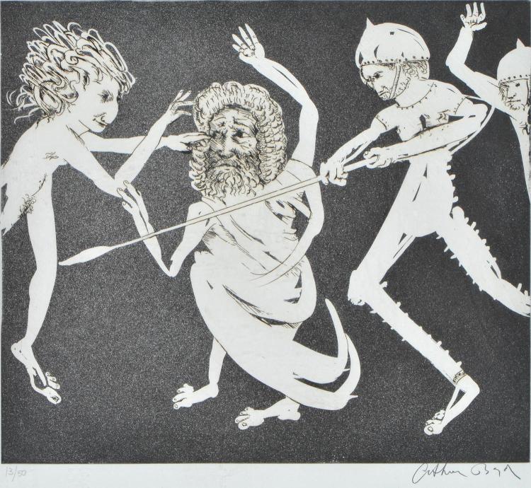 ARTHUR BOYD (1920-1999) Untitled etching edition 13/50