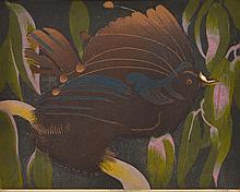MURRAY GRIFFIN (1903-1992) Bird of Paradise linocut edition 4/25