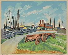 ALAN SUMNER (1911-1994) By South Wharf screenprint
