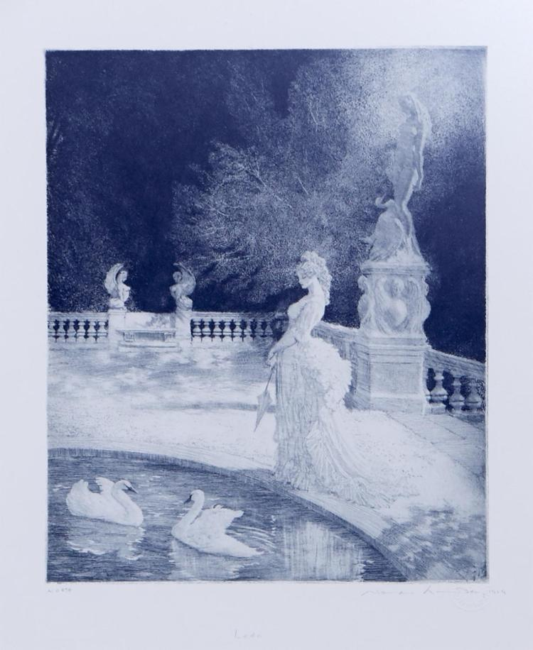 NORMAN LINDSAY (1879-1969) (LOCATION SYDNEY OFFICE - all enquiries phone 02 9362 9045) Leda facsimile etching