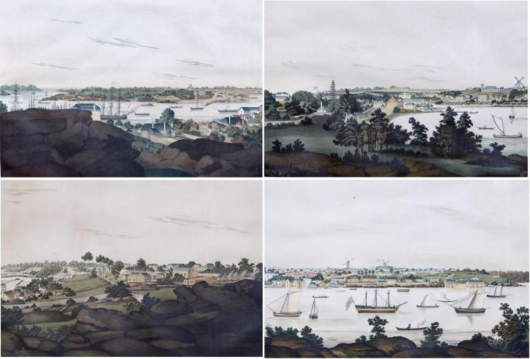 JOHN EYRE (c.1771-after 1813) (LOCATION SYDNEY OFFICE - all enquiries phone 02 9362 9045) New South Wales 1810 (Eyre Views - panoram...