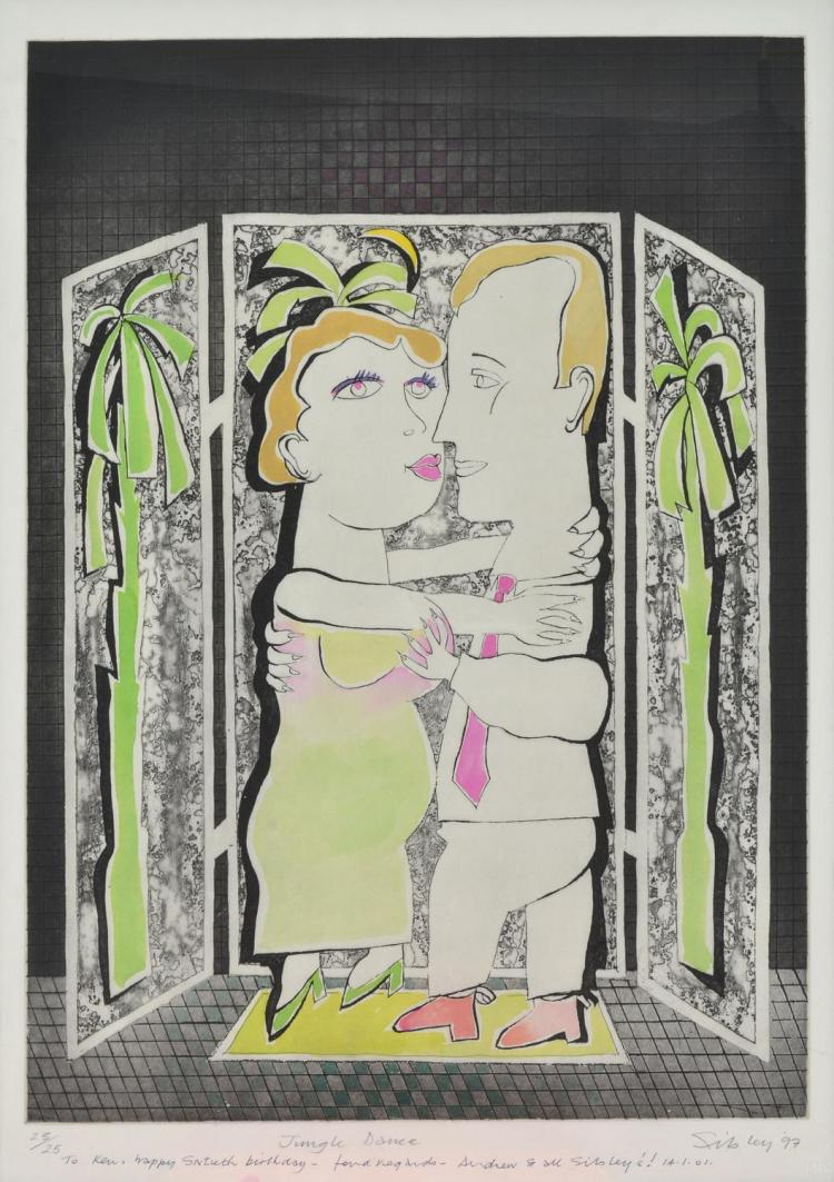 ANDREW SIBLEY (born 1933) Jungle Dance 1997 etching 23/25