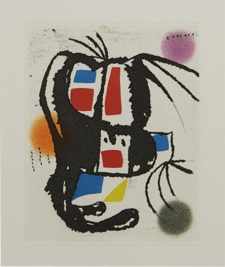 JOAN MIRO (Spanish, 1893-1983) (LOCATION SYDNEY OFFICE - all enquiries phone 02 9362 9045) Plate 14 from Le Marteau sans Maitre 1976...
