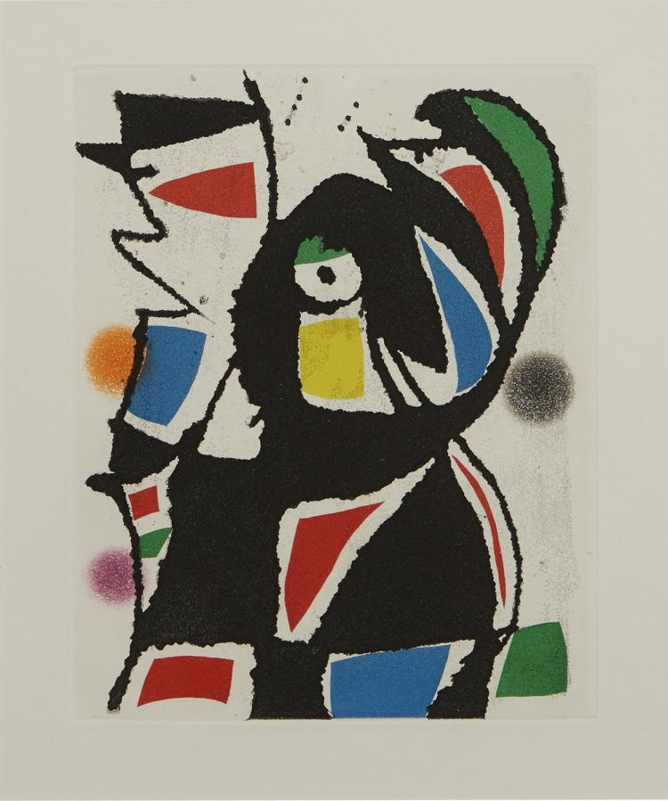 JOAN MIRO (Spanish, 1893-1983) (LOCATION SYDNEY OFFICE - all enquiries phone 02 9362 9045) Plate 15 from Le Marteau sans Maitre 1976...