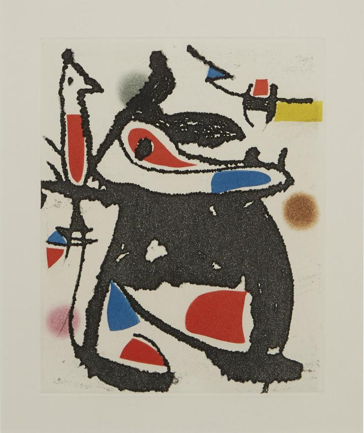 JOAN MIRO (Spanish, 1893-1983) (LOCATION SYDNEY OFFICE - all enquiries phone 02 9362 9045) Plate 20 from Le Marteau sans Maitre 1976...