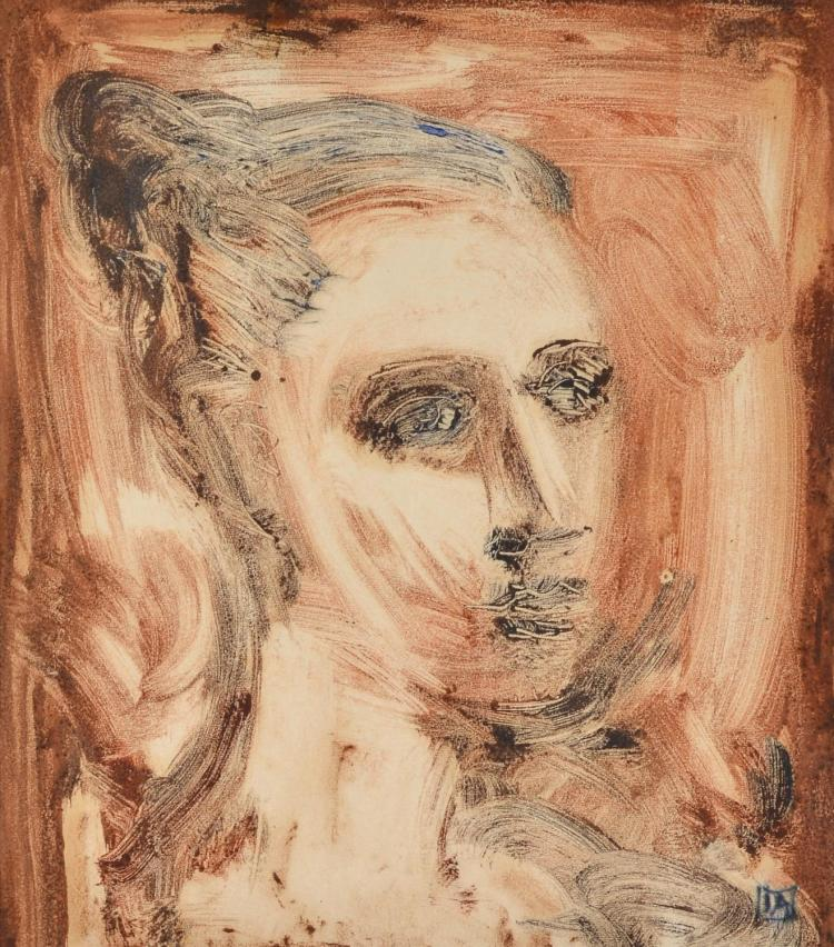 IAN ARMSTRONG (1923-2005) Young Girl monotype