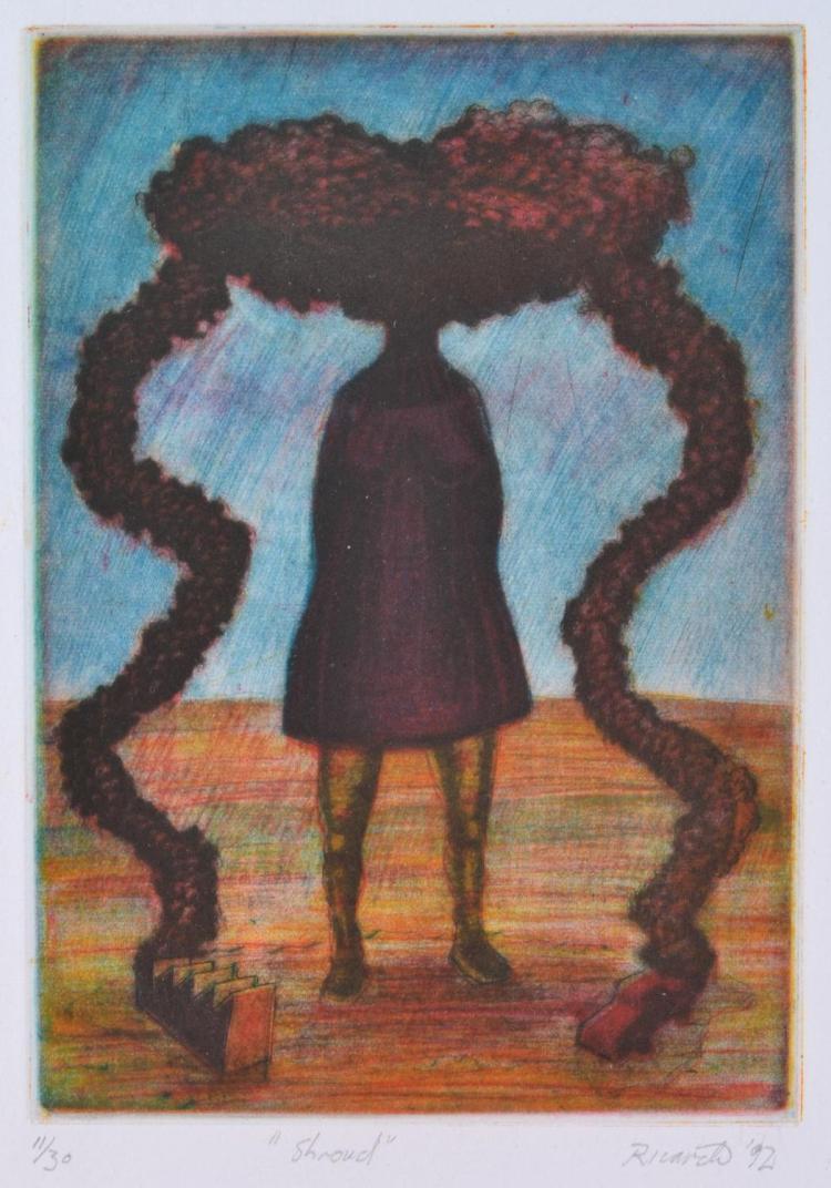 GEOFFREY RICARDO (born 1964) Shroud 1992 aquatint 11/30