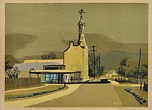 KENNETH JACK (1924-2006) Town Hall, Talbot, Victoria 1958 screenprint edition 28/30