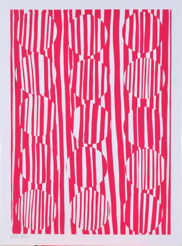 MELINDA HARPER (born 1965) Untitled (Abstract) screenprint edition 32/35
