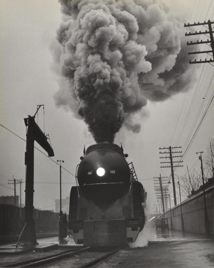 OGLE WINSTON LINK (1914-2001) Steam Train 1988 silver gelatin print