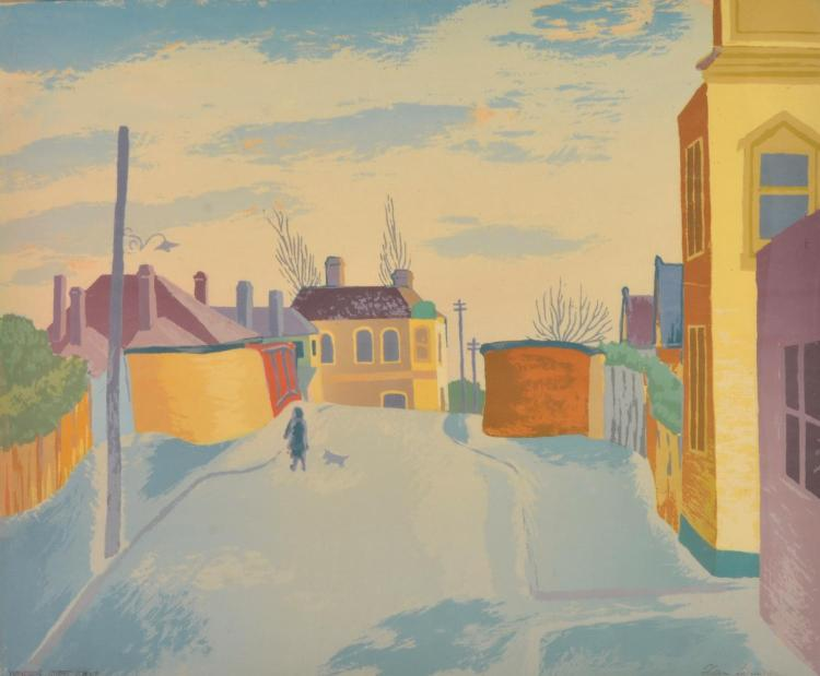 ALAN SUMNER (1911-1994) Windsor Street Scene 1945 screenprint, edition of 30