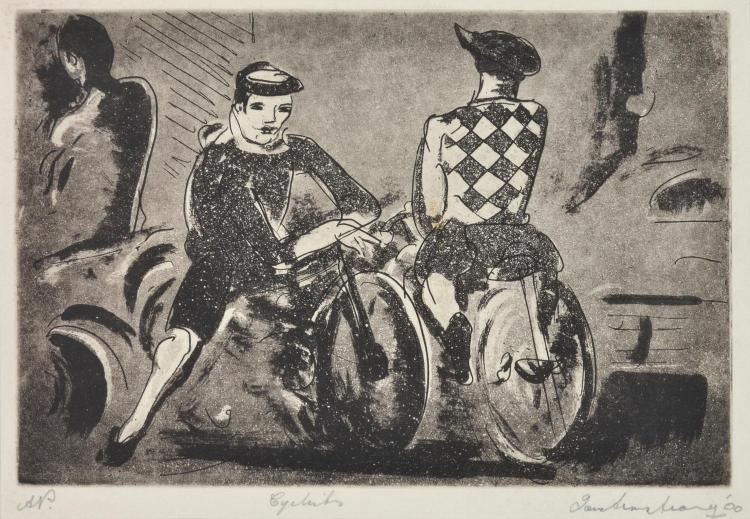 IAN ARMSTRONG (1923-2005) Cyclists 2000 etching A/P