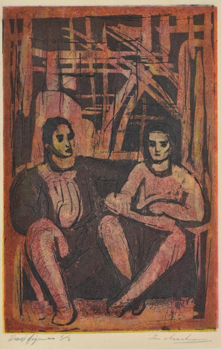 IAN ARMSTRONG (1923-2005) Two Figures multi-plate etching 1/5