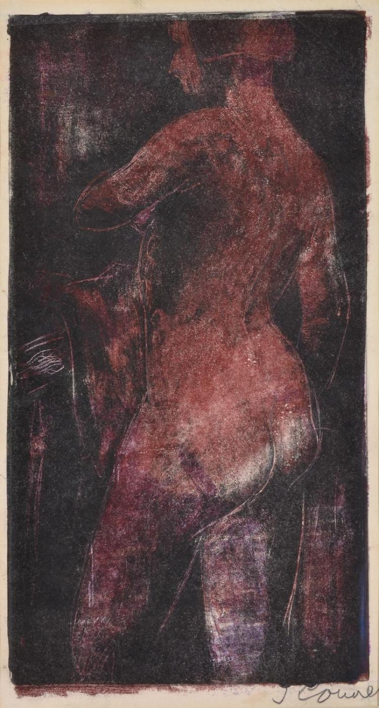 JACK COURIER (born 1915) Nude monotype