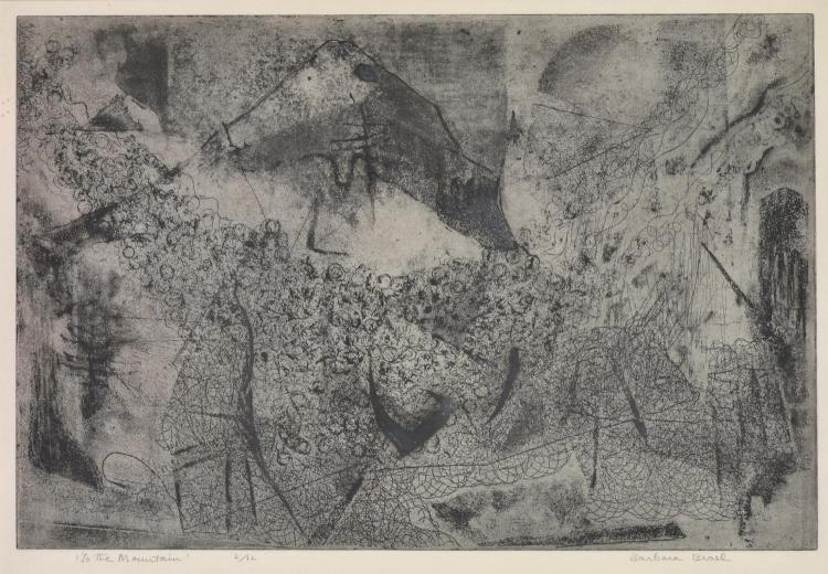 BARBARA BRASH (1925-1998) The Mountain etching 2/12
