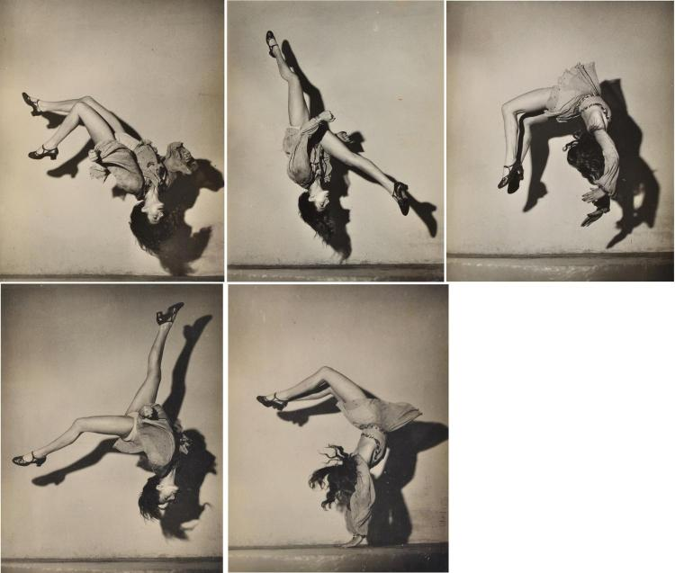 JACQUES VERRIER Monie Benson-Young, Parisian Dancer 1948 silver gelatin prints (5)