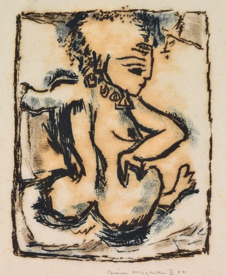 DIANA MOGENSEN (born 1921) Nude monotype