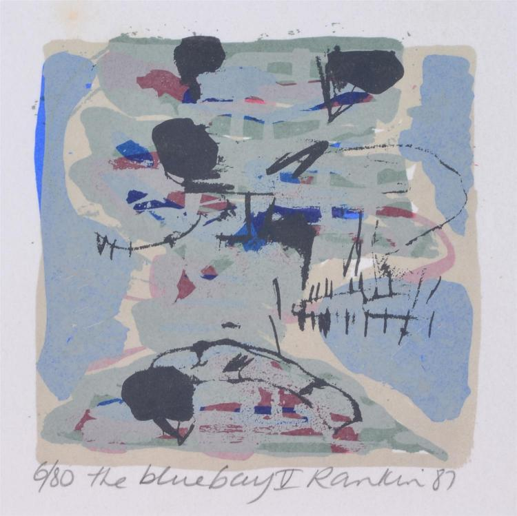 DAVID RANKIN (born 1946) The Blue Bay II screenprint 6/80