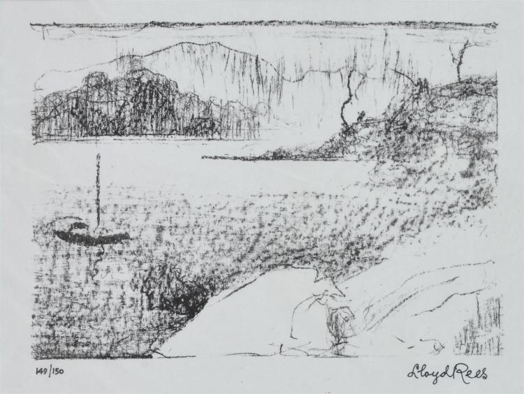LLOYD REES (1895-1998) Upper Tamar River lithograph 149/150