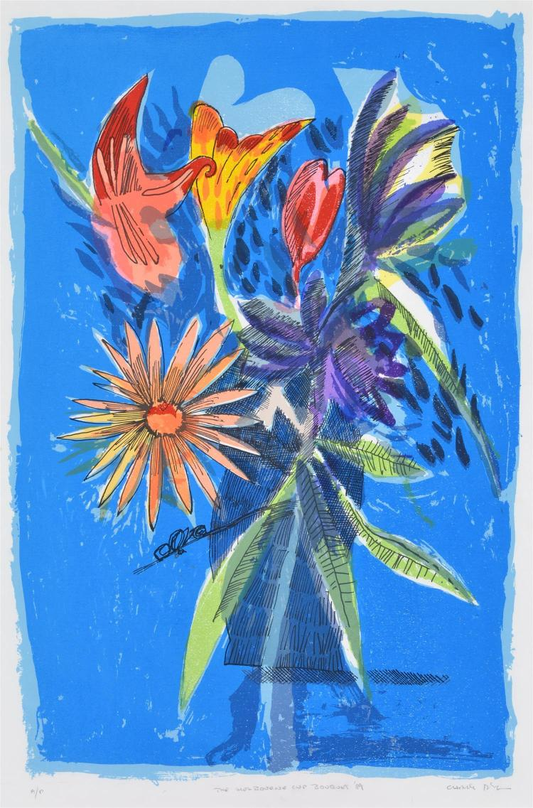CHARLES BLACKMAN, THE MELBOURNE BOQUET, SCREEN PRINT A/P, 54 X 58 CM