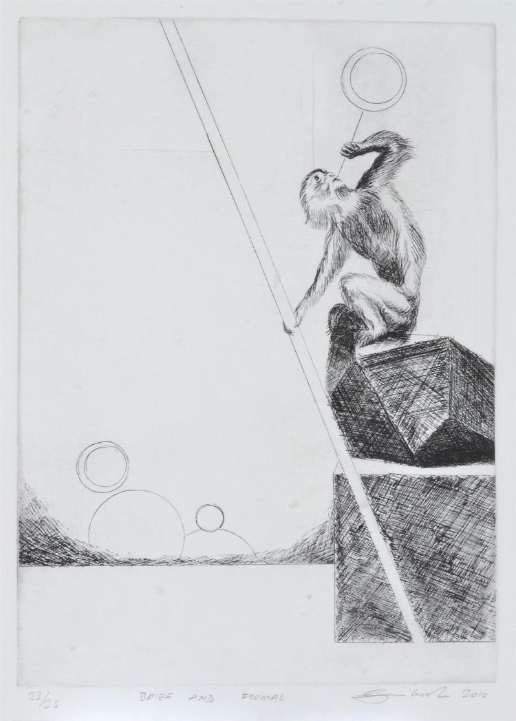 SAM LEACH, BRIEF AND FORMAL 2010, ETCHING
