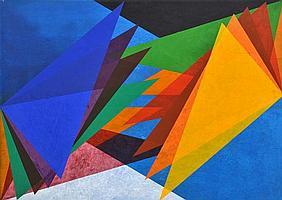 TONY WOODS (BORN 1940) Shape Progression 1997 oil and acrylic on canvas