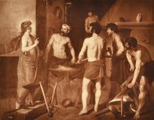 ADOLPHE BRAUN (FRENCH, 1812-1877) Detail: Velazquez, Prado Museum, Madrid 1902 carbon print on original mount