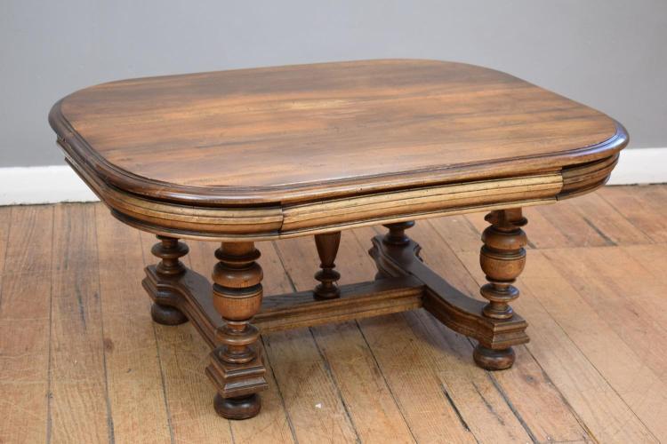 An early 20th century oak coffee table 80cm w x 105cm l x 5 for Coffee table 80cm x 80cm