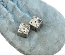 A PAIR OFSTERLING SILVER DICE BY TIFFANY & CO.