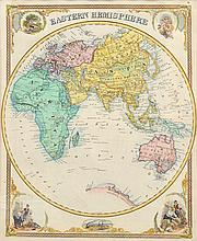 19TH CENTURY MAP OF THE EASTERN HEMISPHERE