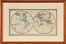 18TH CENTURY MAP OF THE WORLD