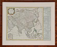 EARLY 18TH CENTURY MAP OF ASIA