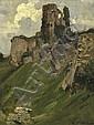 ARTHUR STREETON (1867-1943) Corfe Castle oil on canvas