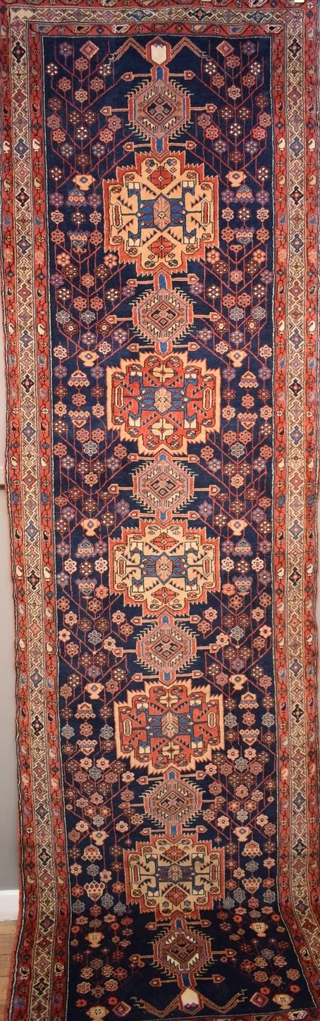 A RARE COLLECTABLE YALLAME HALLWAY RUNNER. 100% WOOL BASE AND PILE - BRILLIANT PIECE - ORIGIN IRAN. (380 X 104cm) -  RRP $4800