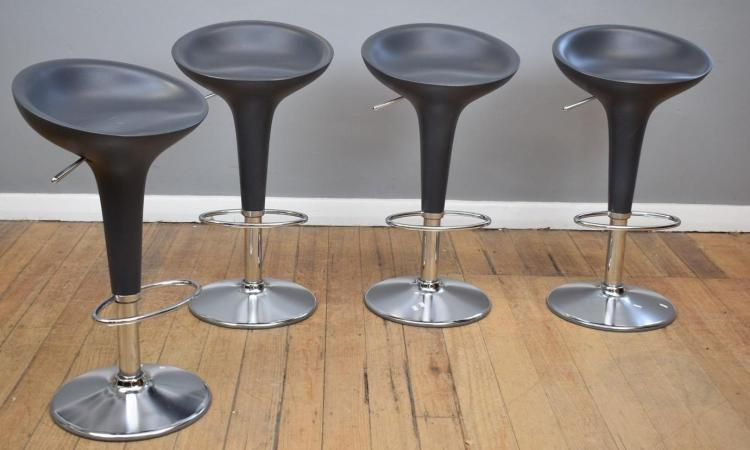 A SET OF FOUR ITALIAN 'MAGIS' BOMBO DESIGN STEFANO GIOVANNONI BAR STOOLS