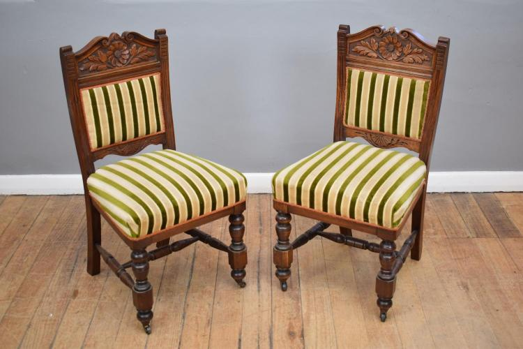 A SET OF EDWARDIAN DINING CHAIRS