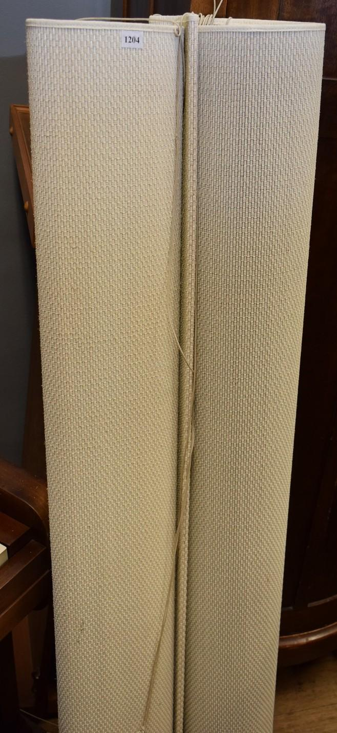 A PAIR OF MODERN ROLL UP BLINDS