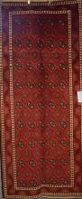 A SUPERFINE PERSIAN TOURKAMAN EXTREMELY FINE WOOL- EXCELLENT WEAVE - ORIGIN IRAN 295 X 130, RRP $2800