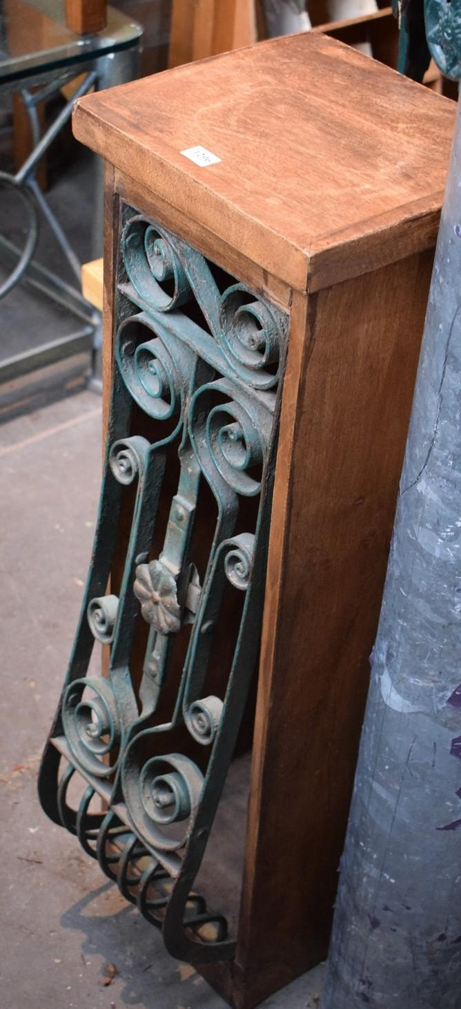 AN ITALIANATE WROUGHT IRON SIDE CABINET
