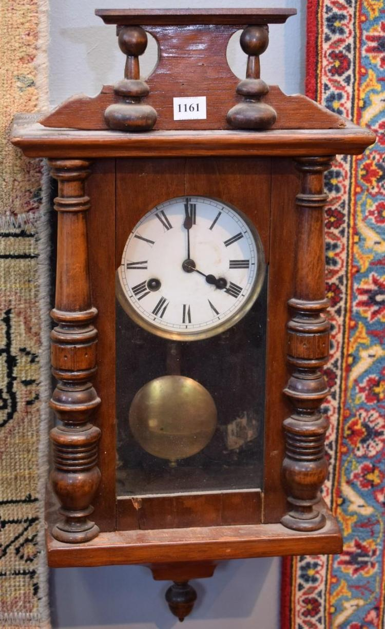 AN EARLY 20TH CENTURY FRENCH WALL CLOCK - w/faults