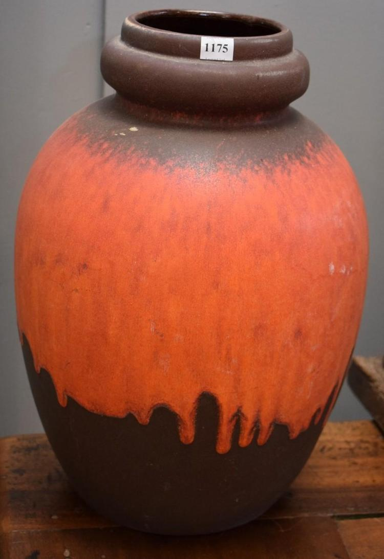 A EUROPEAN EARTHENWARE VASE