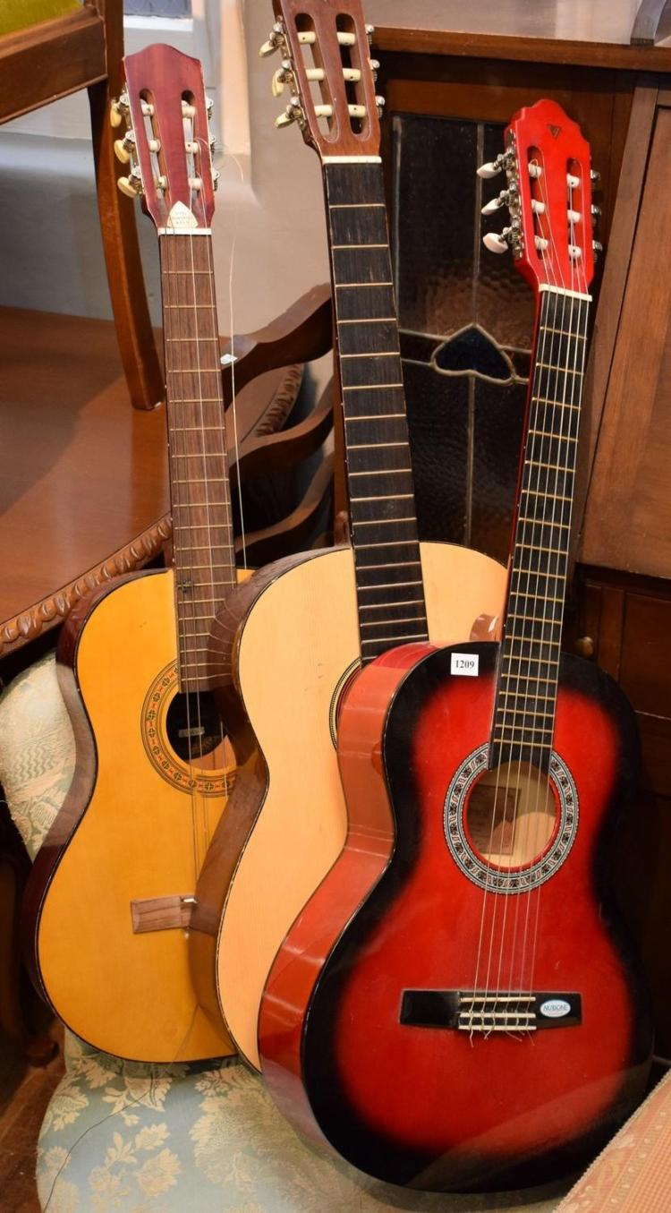 THREE ACOUSTIC GUITARS