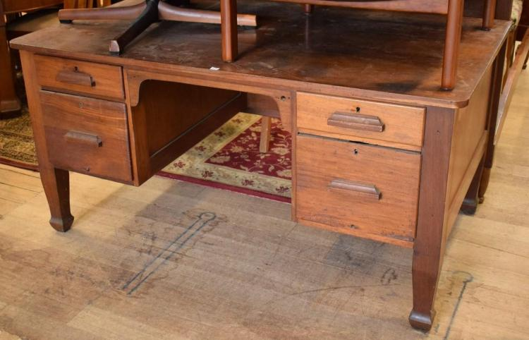 A BLACKWOOD 1920'S DESK